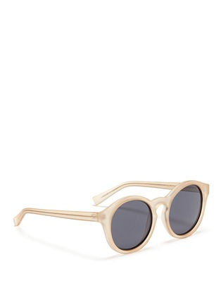 Figure View - Click To Enlarge - self-portrait - x Le Specs 'Edition Four' frosted acetate round sunglasses