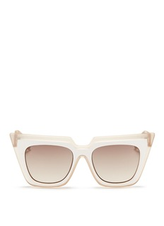self-portrait x Le Specs 'Edition One' layered acetate cat eye sunglasses