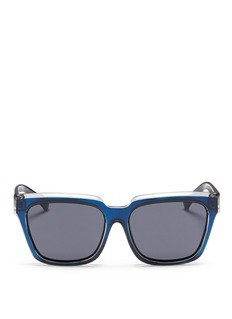 self-portrait x Le Specs 'Edition Two' colourblock acetate square sunglasses