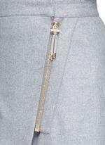 'Panna' wrap front flannel pencil skirt