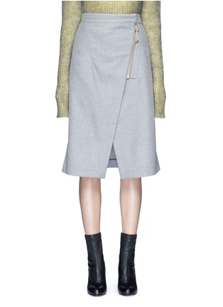 Main View - Click To Enlarge - Acne Studios - 'Panna' wrap front flannel pencil skirt