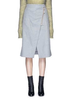 Acne Studios 'Panna' wrap front flannel pencil skirt