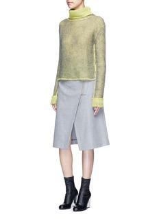 Acne Studios'Panna' wrap front flannel pencil skirt