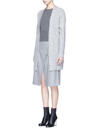 Front View - Click To Enlarge - Acne Studios - 'Raya' mohair blend cardigan