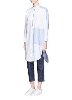 Acne Studios'Elo' pinstripe patchwork poplin shirt