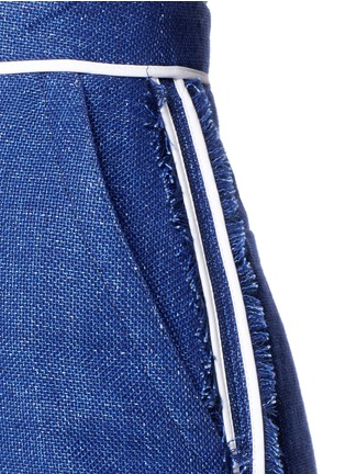 Detail View - Click To Enlarge - Acne Studios - 'Kent' piped linen-wool burlap skirt