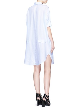 Back View - Click To Enlarge - Acne Studios - 'Lash' pinstripe poplin shirt dress