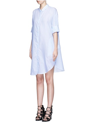 Front View - Click To Enlarge - Acne Studios - 'Lash' pinstripe poplin shirt dress