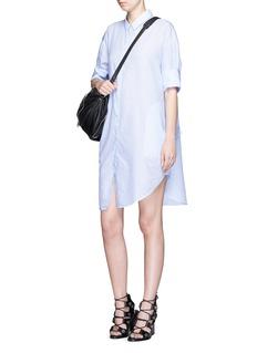 ACNE STUDIOS'Lash' pinstripe poplin shirt dress