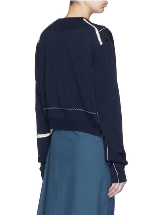 Back View - Click To Enlarge - Acne Studios - 'Anya Patch' mercerised cotton sweater