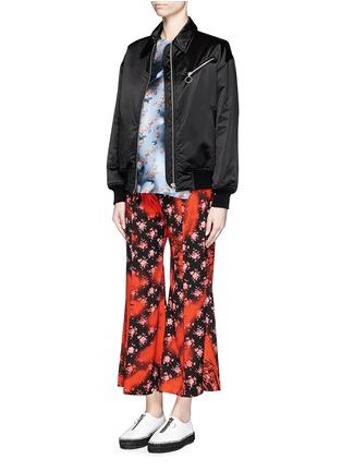 Figure View - Click To Enlarge - Acne Studios - 'Olexa' sakura print cropped flare pants