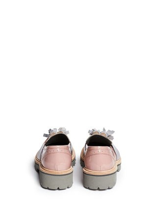 Back View - Click To Enlarge - MSGM - Patent leather tassel loafers