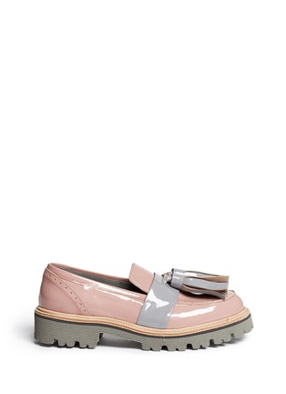 Main View - Click To Enlarge - MSGM - Patent leather tassel loafers