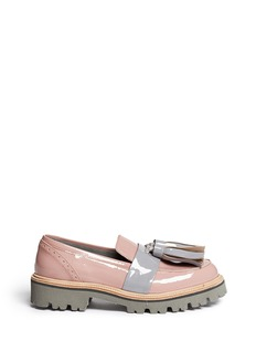 MSGM Patent leather tassel loafers