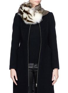 CUTULICULTFur panel modal-wool scarf