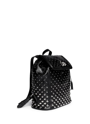 Figure View - Click To Enlarge - Alexander McQueen - 'Padlock' stud leather backpack