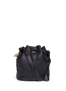 ALEXANDER MCQUEEN 'Padlock Secchiello' leather bucket bag