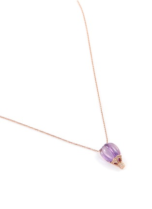 Bao Bao Wan - Balloon pendant diamond pavé amethyst 18k rose gold necklace