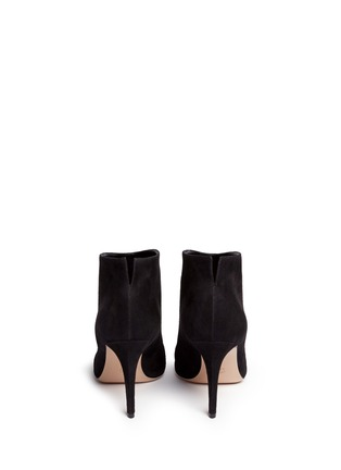 Back View - Click To Enlarge - Gianvito Rossi - 'Kat' suede ankle booties