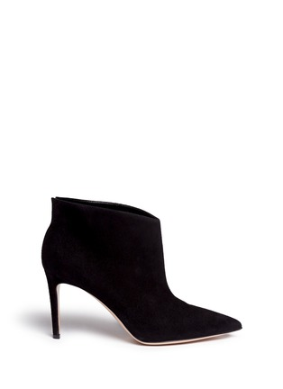 Main View - Click To Enlarge - Gianvito Rossi - 'Kat' suede ankle booties