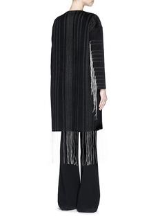 MS MINFringe trim stitch wool-cashmere coat