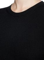 'Adrellana' wool-blend rib knit dress