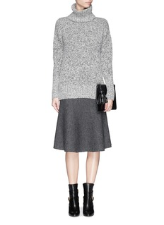THEORY'Marvita' reversible stretch wool blend flute skirt