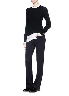 HELMUT LANG Cotton-angora turtleneck sweater