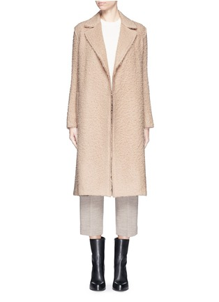 Detail View - Click To Enlarge - Helmut Lang - Shaggy alpaca wool belted coat