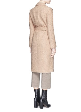 Back View - Click To Enlarge - Helmut Lang - Shaggy alpaca wool belted coat