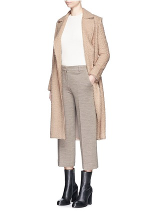 Figure View - Click To Enlarge - Helmut Lang - Shaggy alpaca wool belted coat