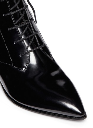 Detail View - Click To Enlarge - MARC BY MARC JACOBS SHOES - Ankle strap leather lace-up combat boots
