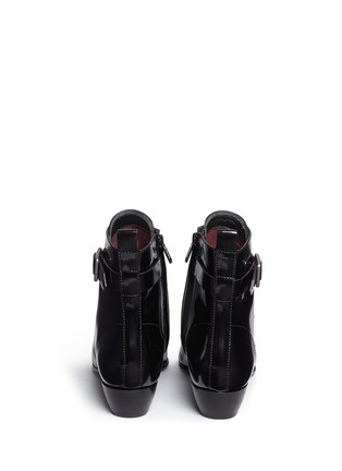 Back View - Click To Enlarge - MARC BY MARC JACOBS SHOES - Ankle strap leather lace-up combat boots