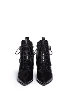 MARC BY MARC JACOBSAnkle strap leather lace-up combat boots