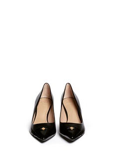 TORY BURCH'Fairford' patent leather toe cap pumps