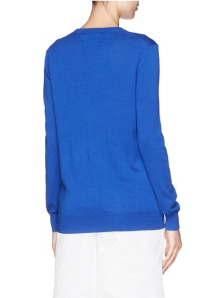 Back View - Click To Enlarge - MARKUS LUPFER - 'Hot Pink Star' sequin Lara Lip sweater