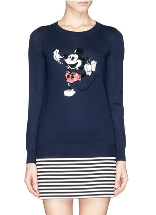 Main View - Click To Enlarge - MARKUS LUPFER - x Disney 'Dancing Vintage Mickey' sequin sweater