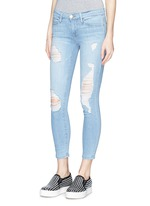 'Le Skinny de Jeanne' distressed cropped jeans