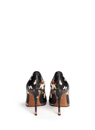 Back View - Click To Enlarge - Givenchy - Magnolia moth print leather pumps