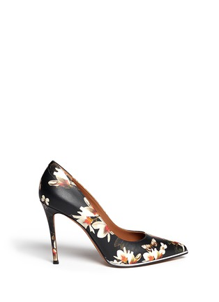 Main View - Click To Enlarge - Givenchy - Magnolia moth print leather pumps