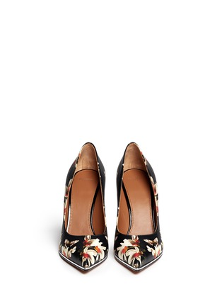 Figure View - Click To Enlarge - Givenchy - Magnolia moth print leather pumps
