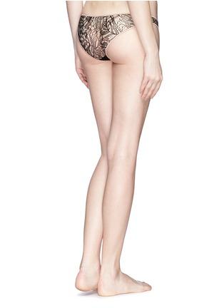 Back View - Click To Enlarge - Kiki De Montparnasse - 'Enchante' silk trim lace panty