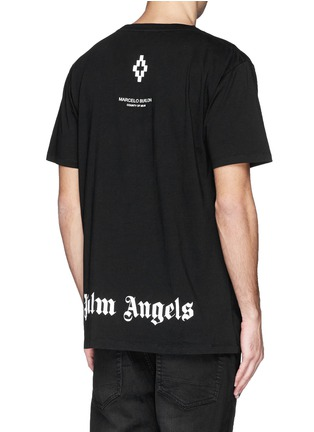 背面 - 点击放大 - MARCELO BURLON - 'Palm Angels' hands print T-shirt and book set