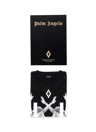 首图 - 点击放大 - MARCELO BURLON - 'Palm Angels' hands print T-shirt and book set