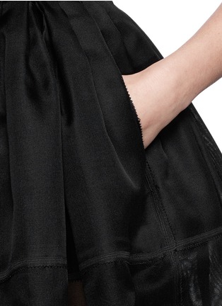 Detail View - Click To Enlarge - Ms MIN - High waist silk gauze flare skirt