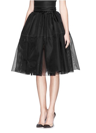 Front View - Click To Enlarge - Ms MIN - High waist silk gauze flare skirt