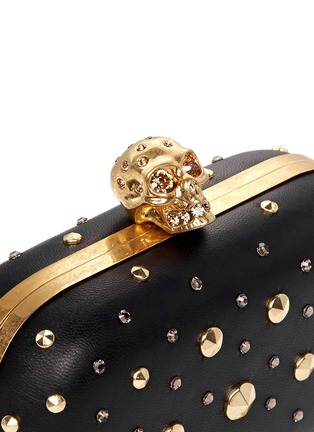 Detail View - Click To Enlarge - Alexander McQueen - Stud skull leather clutch