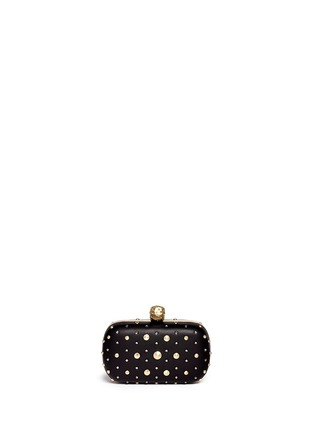 Back View - Click To Enlarge - Alexander McQueen - Stud skull leather clutch
