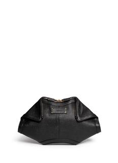 ALEXANDER MCQUEEN'De-Manta' grainy leather clutch