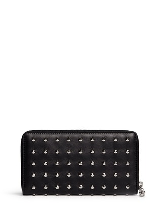 Main View - Click To Enlarge - Alexander McQueen - Skull stud leather continental wallet